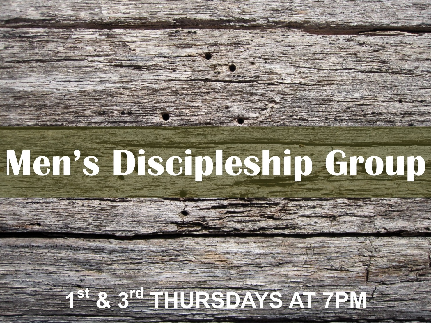 Men's Discipleship Group (1st & 3rd) image