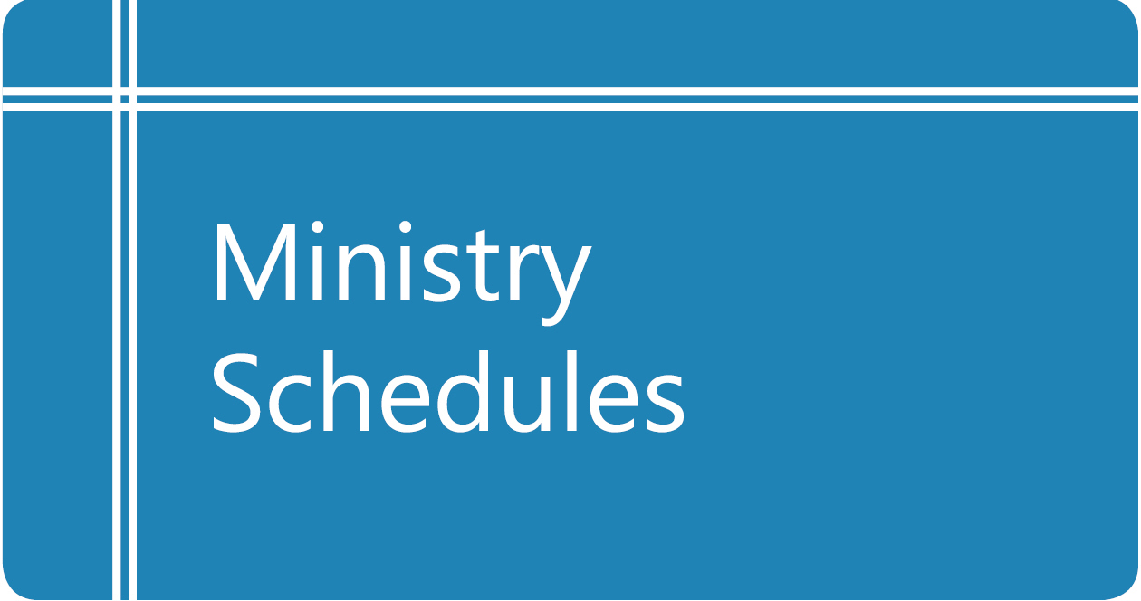 Ministry Schedule Button