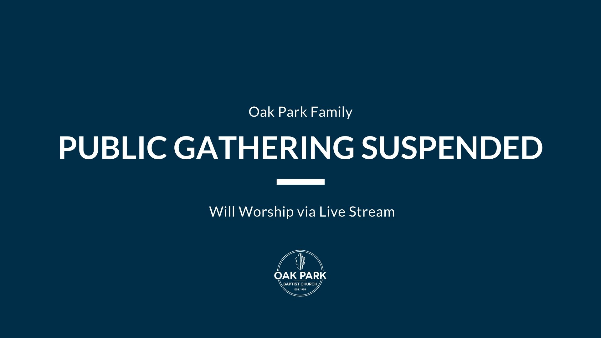 Public Gathering Suspended - Blog