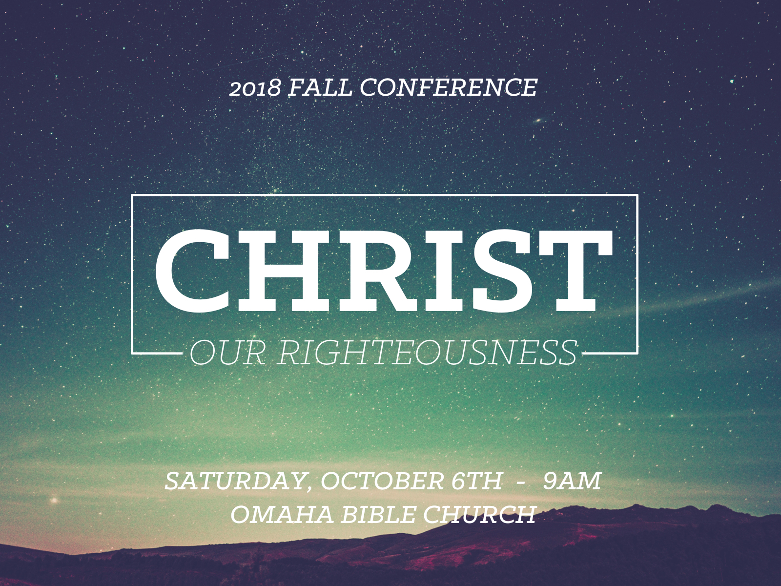 2018 Fall Conference banner