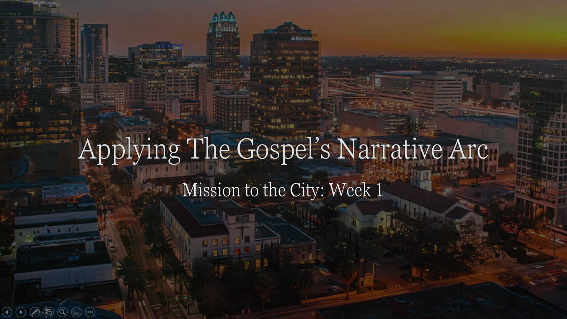 Mission to the City - Week 1