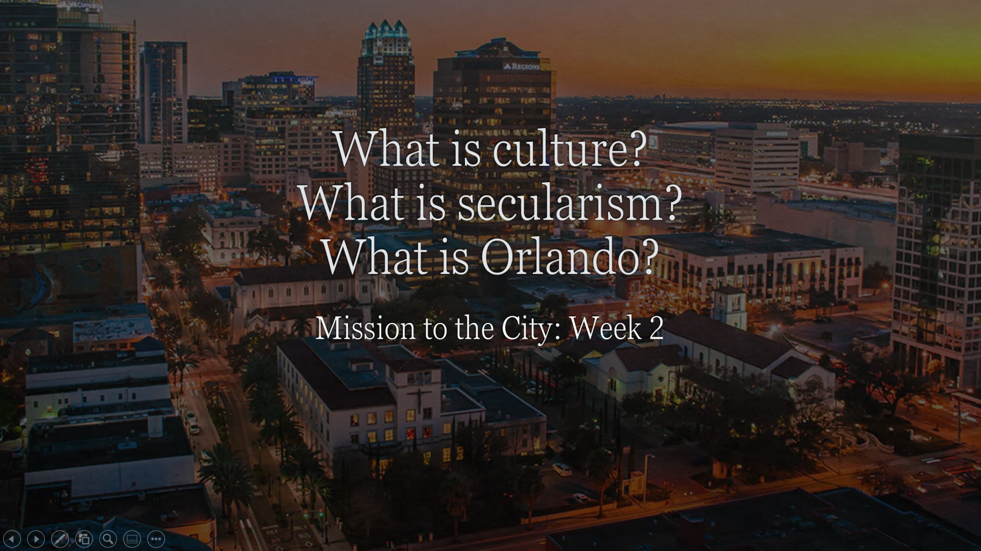 Mission to the City - Week 2