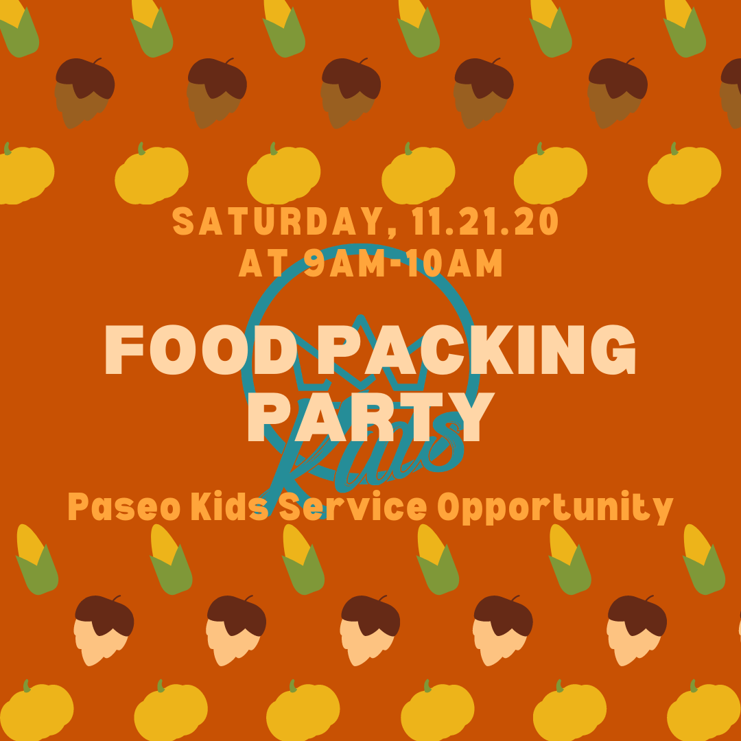 Paseo Kids Food Packing Party