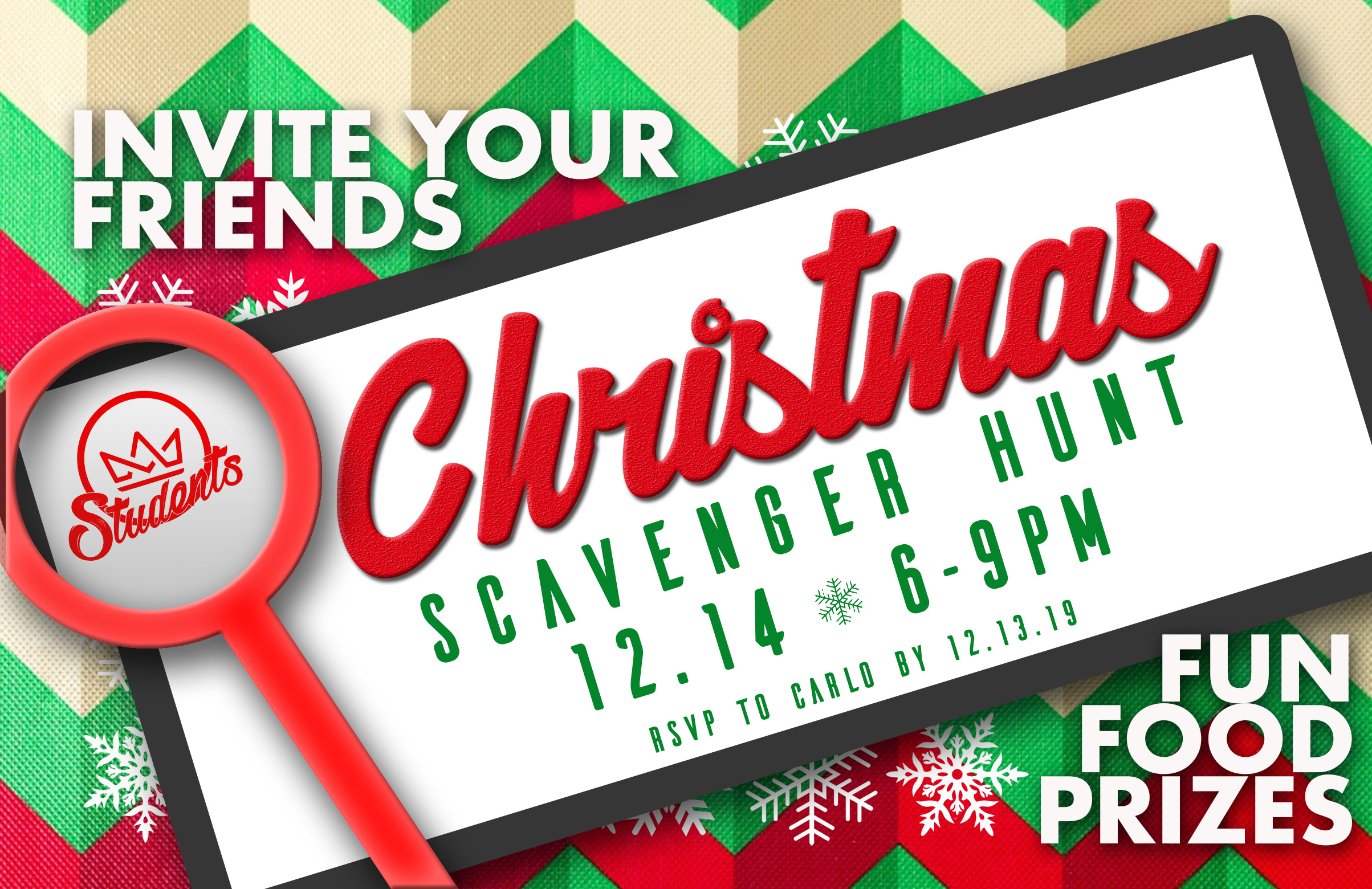Paseo Students Christmas Scavenger Hunt website