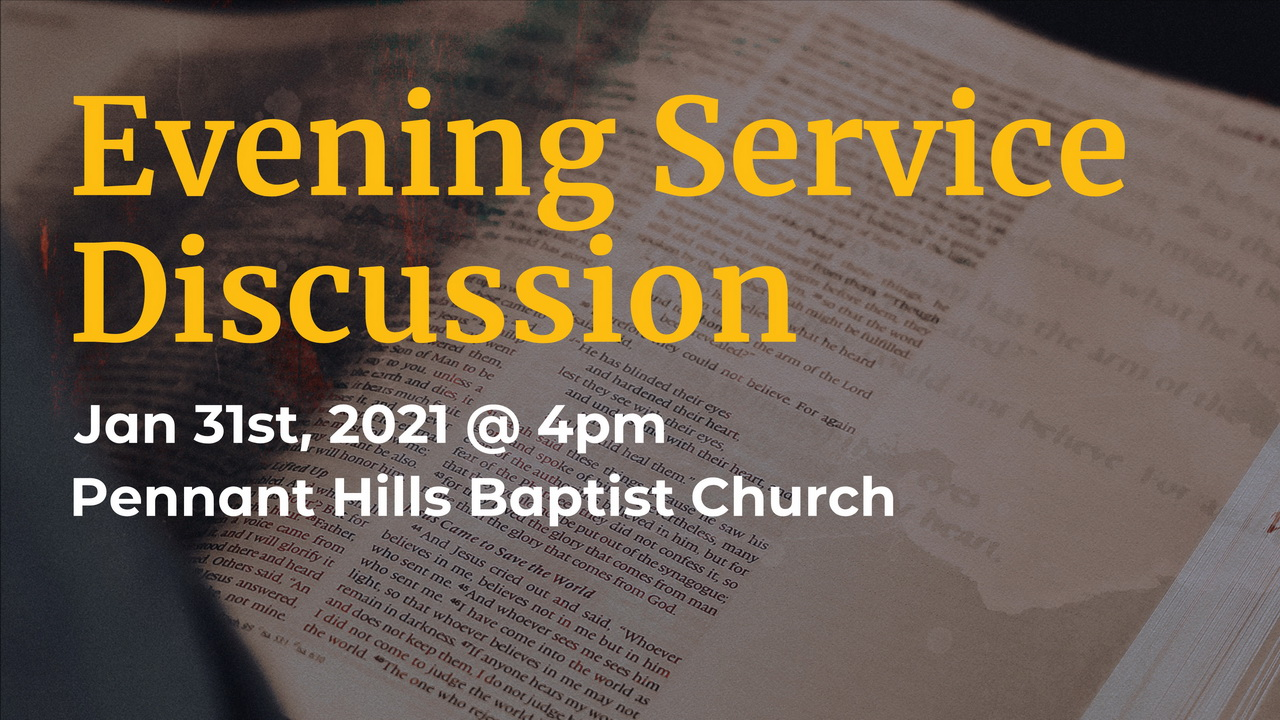 Evening Service discussion 2021 image
