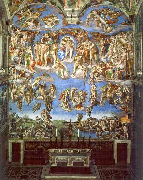 145 Last judgement Michelangelo