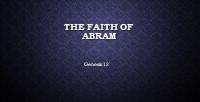 The Faith of Abram