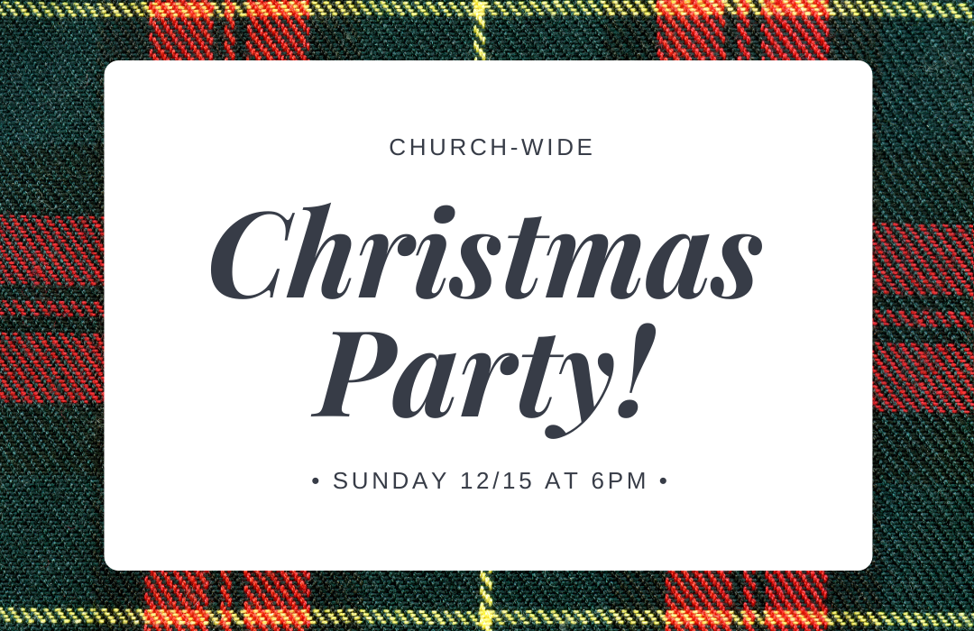 Christmas Party 2019 Event Graphic image