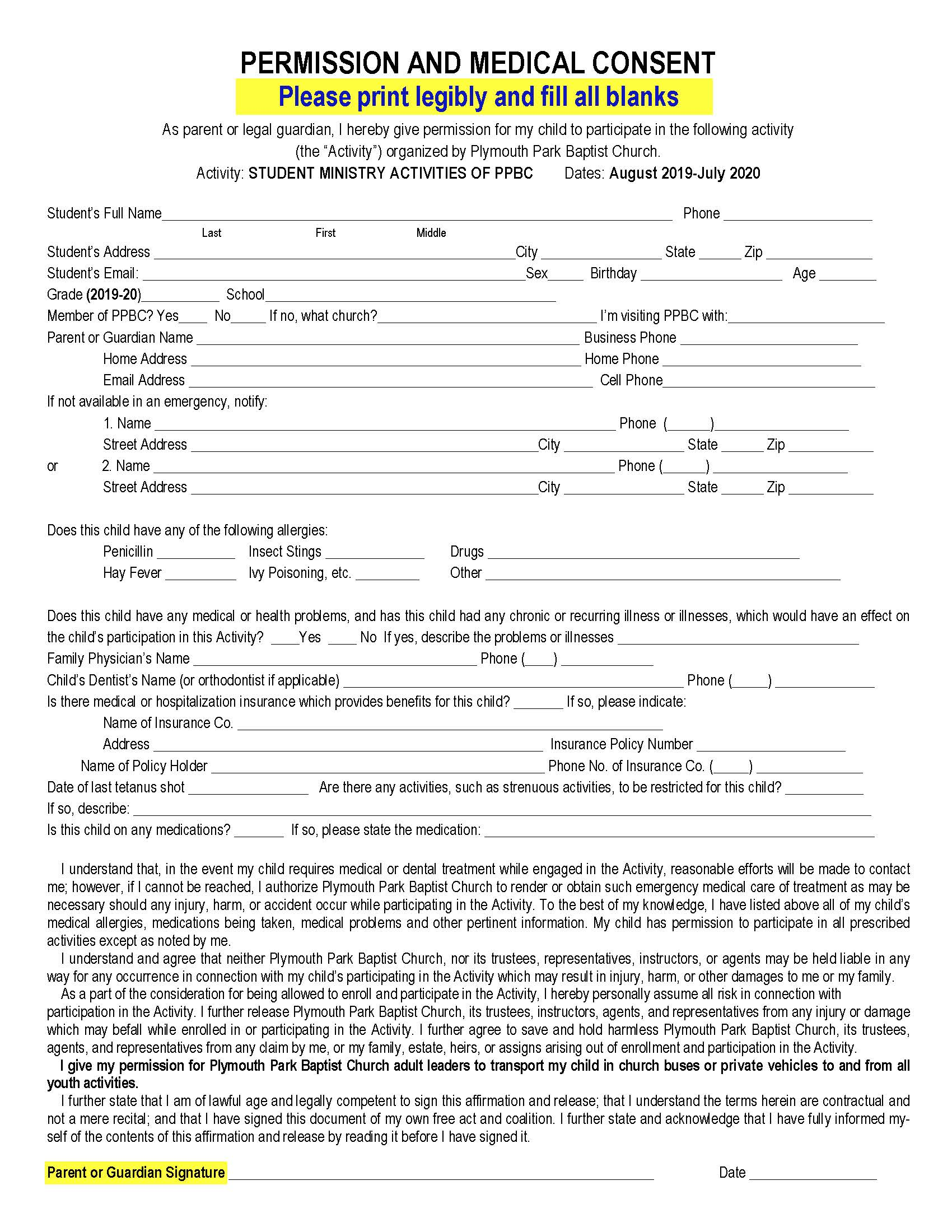 2019-20 Medical Release Form Bilingual_Page_1