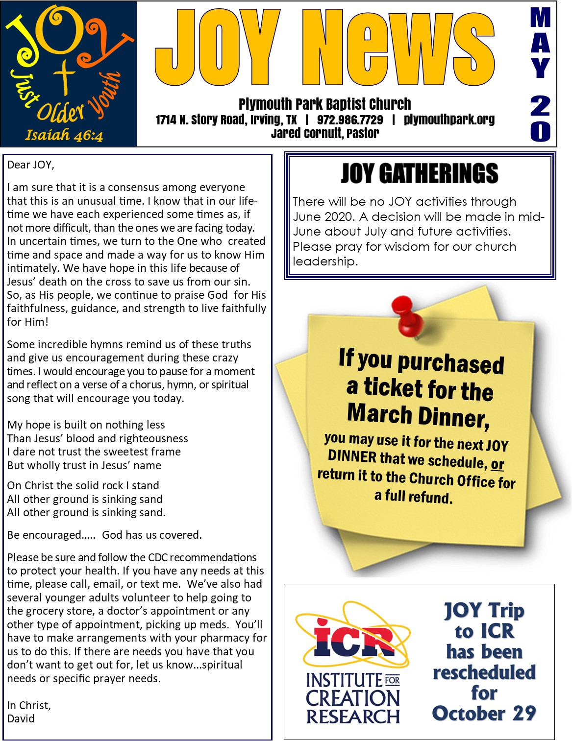 JOY News for Website May1