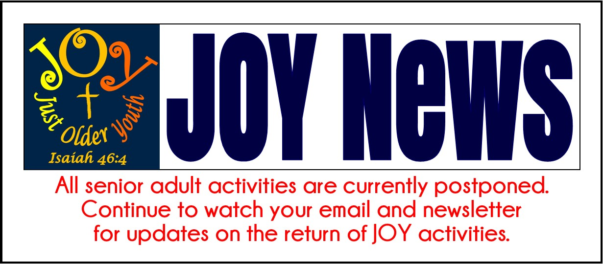 JOY Newsletter for August 2020 revised