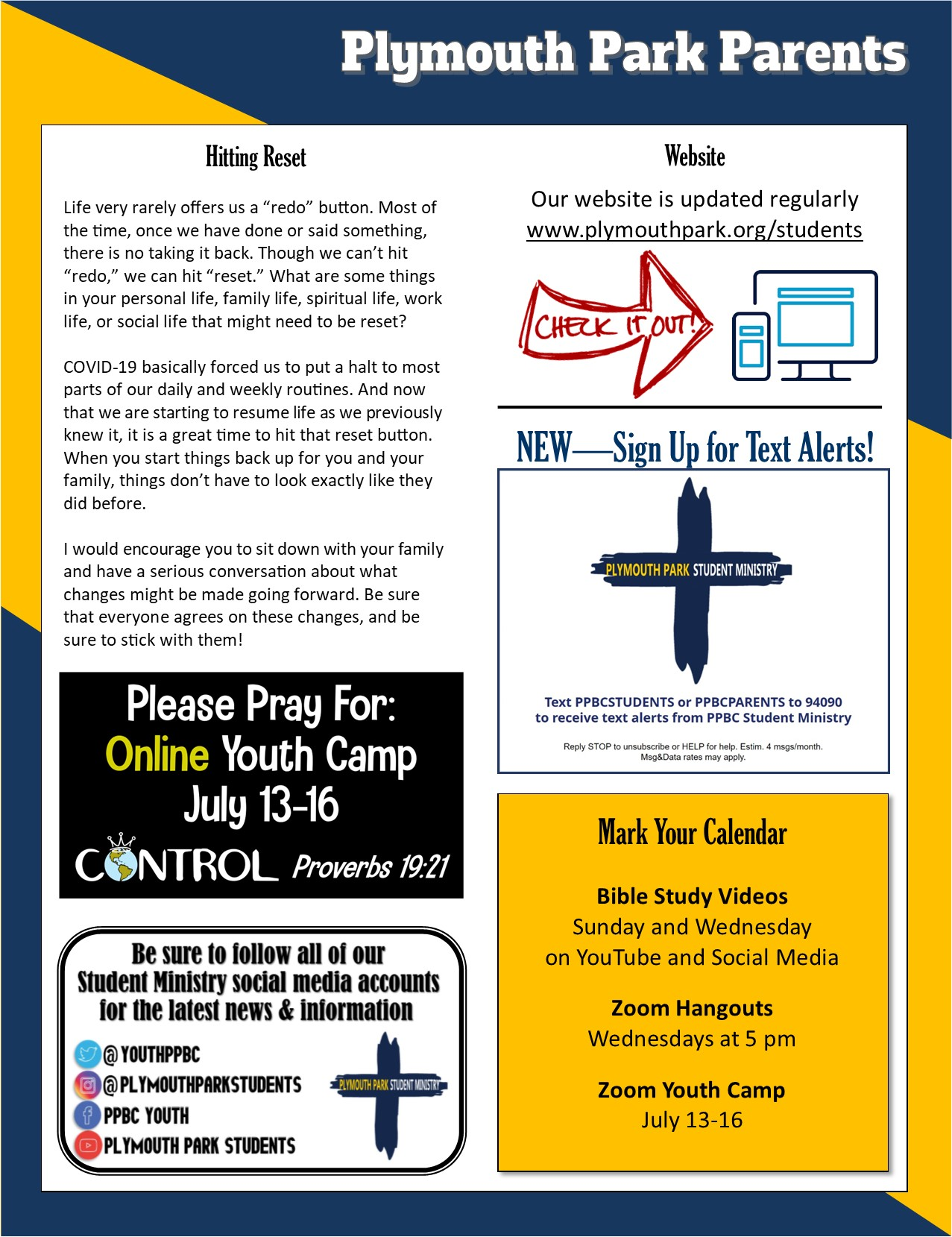 July Parent Newsletter Page 2