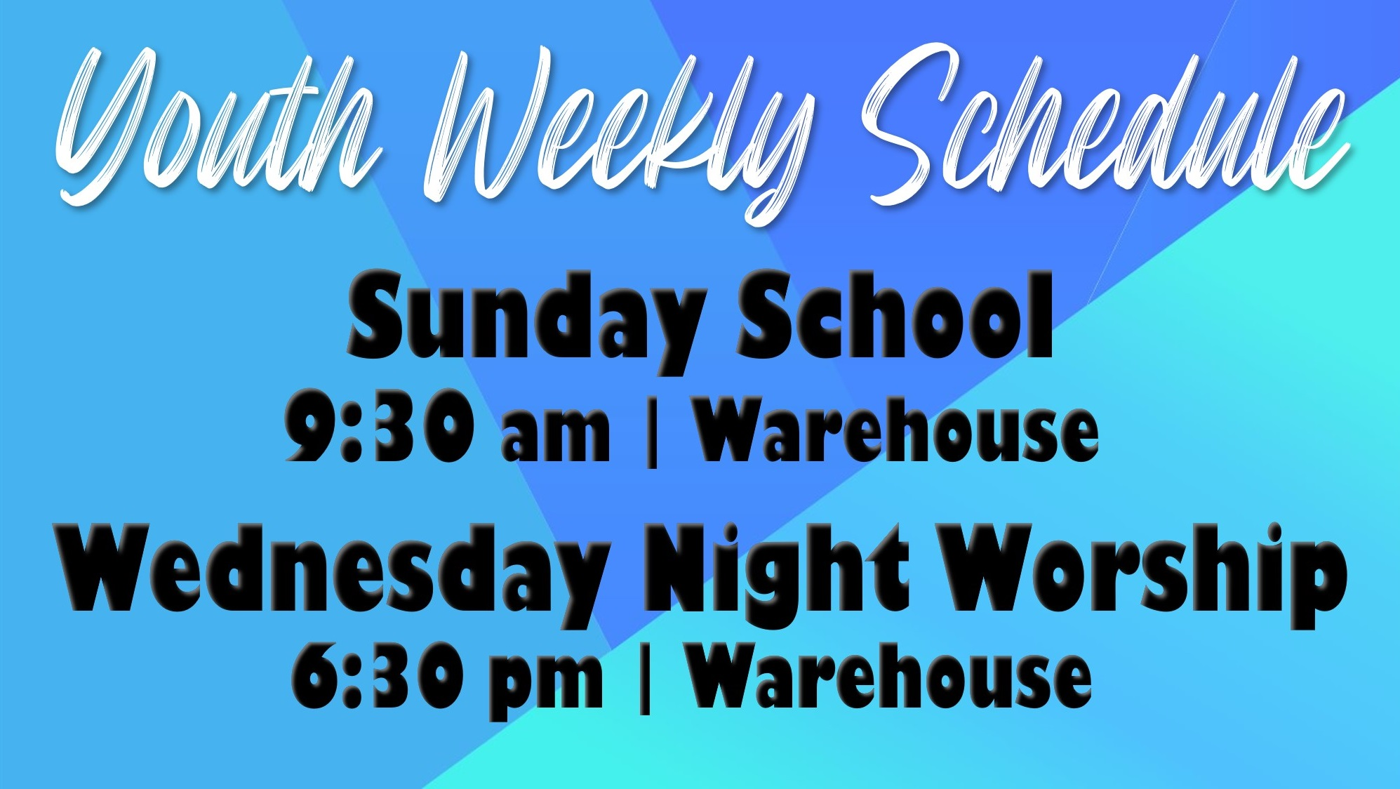 Weekly Schedule in person
