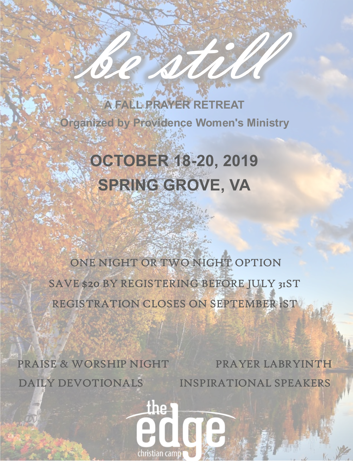 Fall retreat website