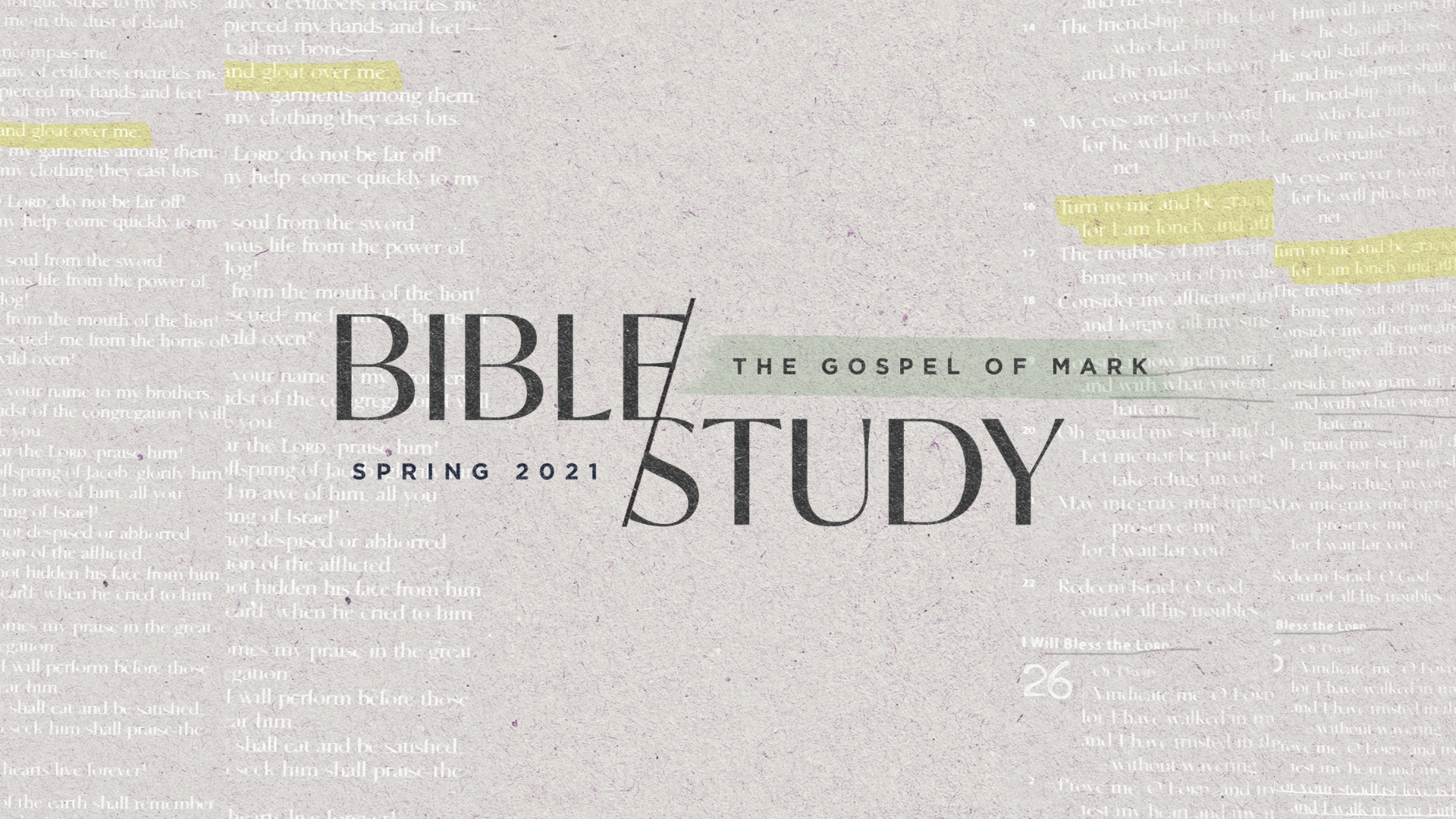 2021.Spring Mark Bible Study image