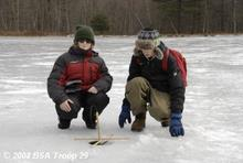Boy Scouts Ice Fishing