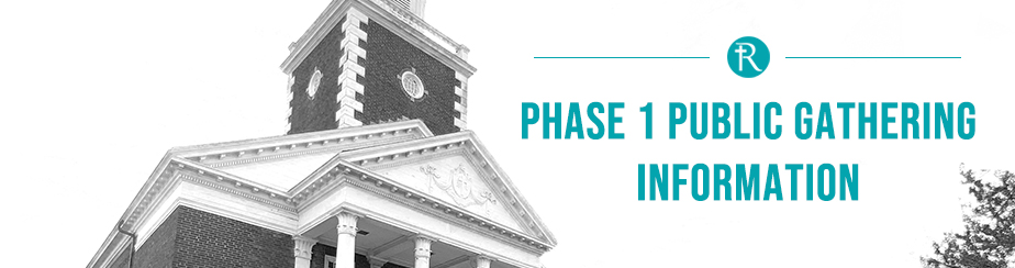 Phase 1 Sunday Services  banner