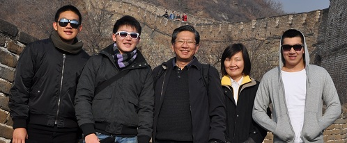 The China Great Wall with Family