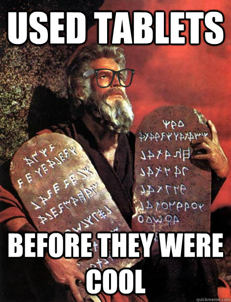 Moses with Tablets image