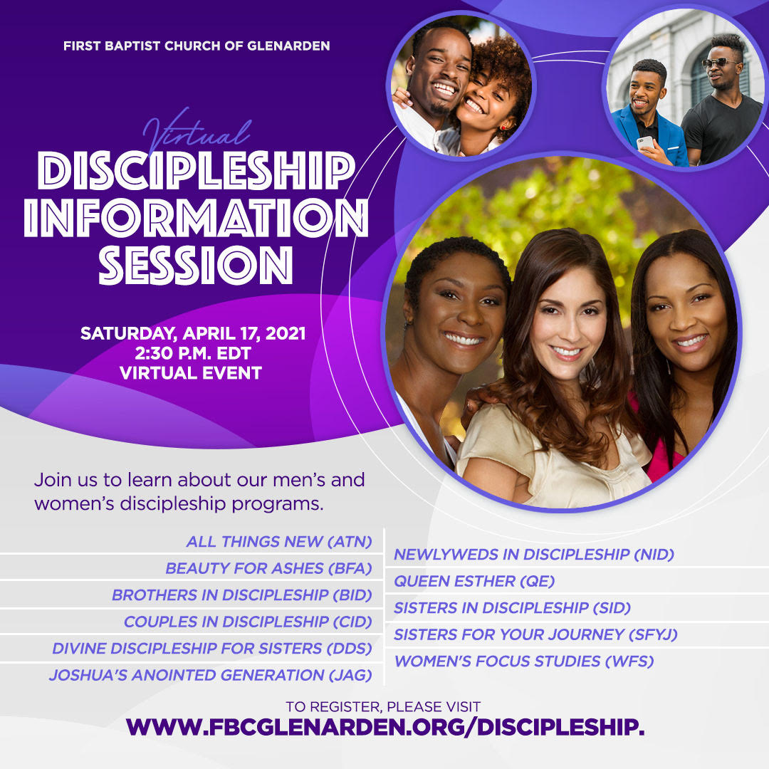 FBCG Discipleship Ministry Info Session Flyer image
