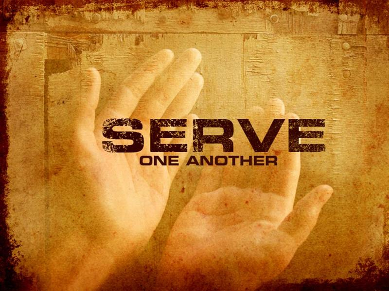Serve one another image