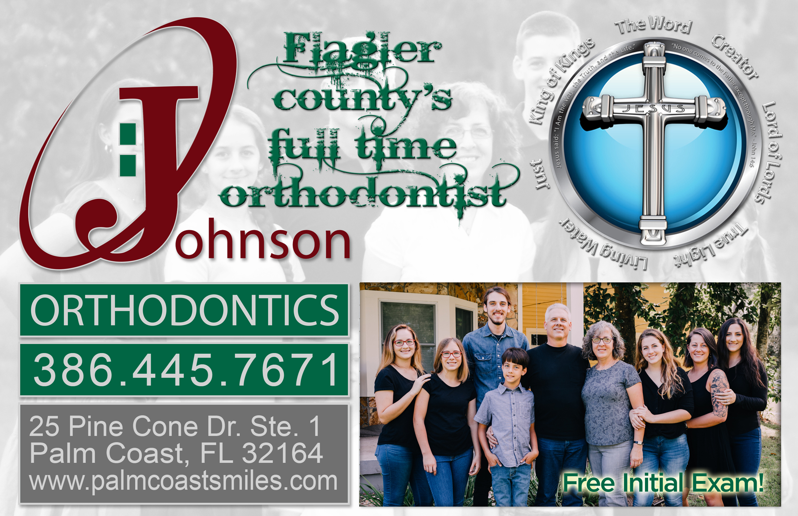 Johnson Orthodontist half page ad 2019