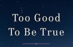 Too Good to Be True banner