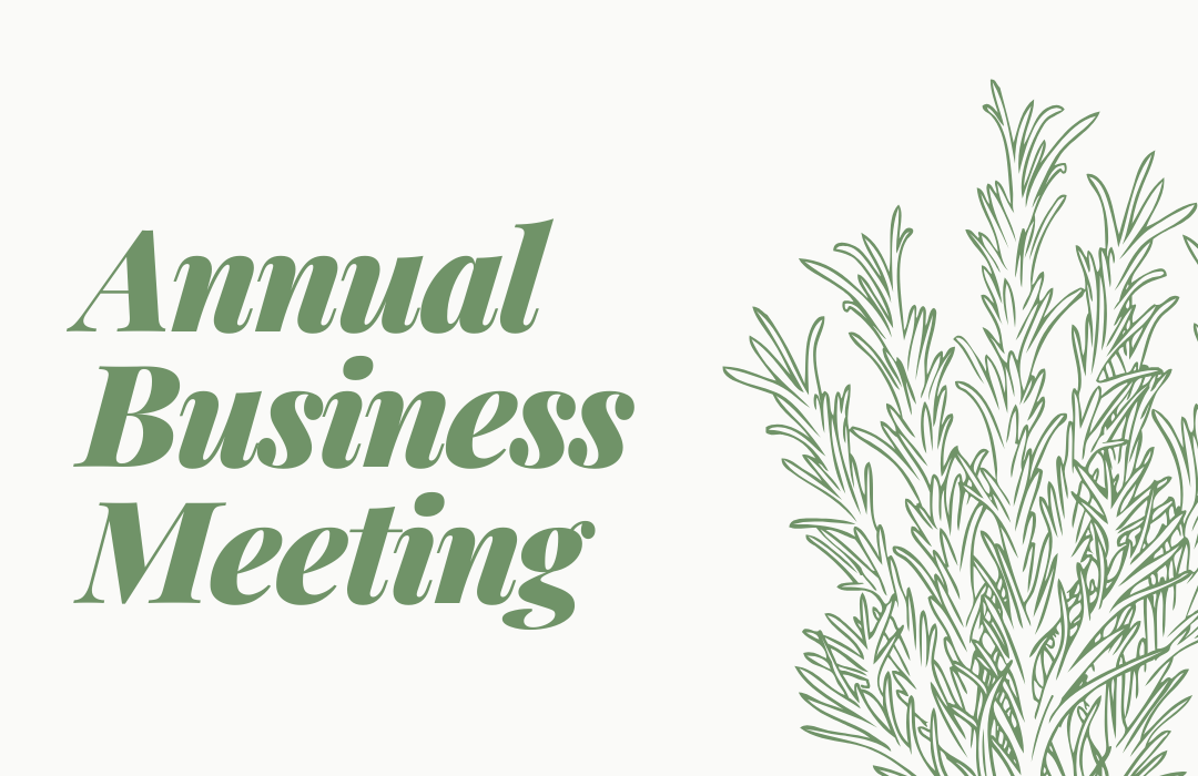 Annual Business Meeting 2