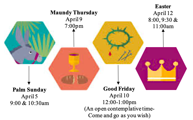Holy Week 2020 graphic