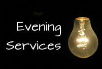 Evening Services sermon graphic image