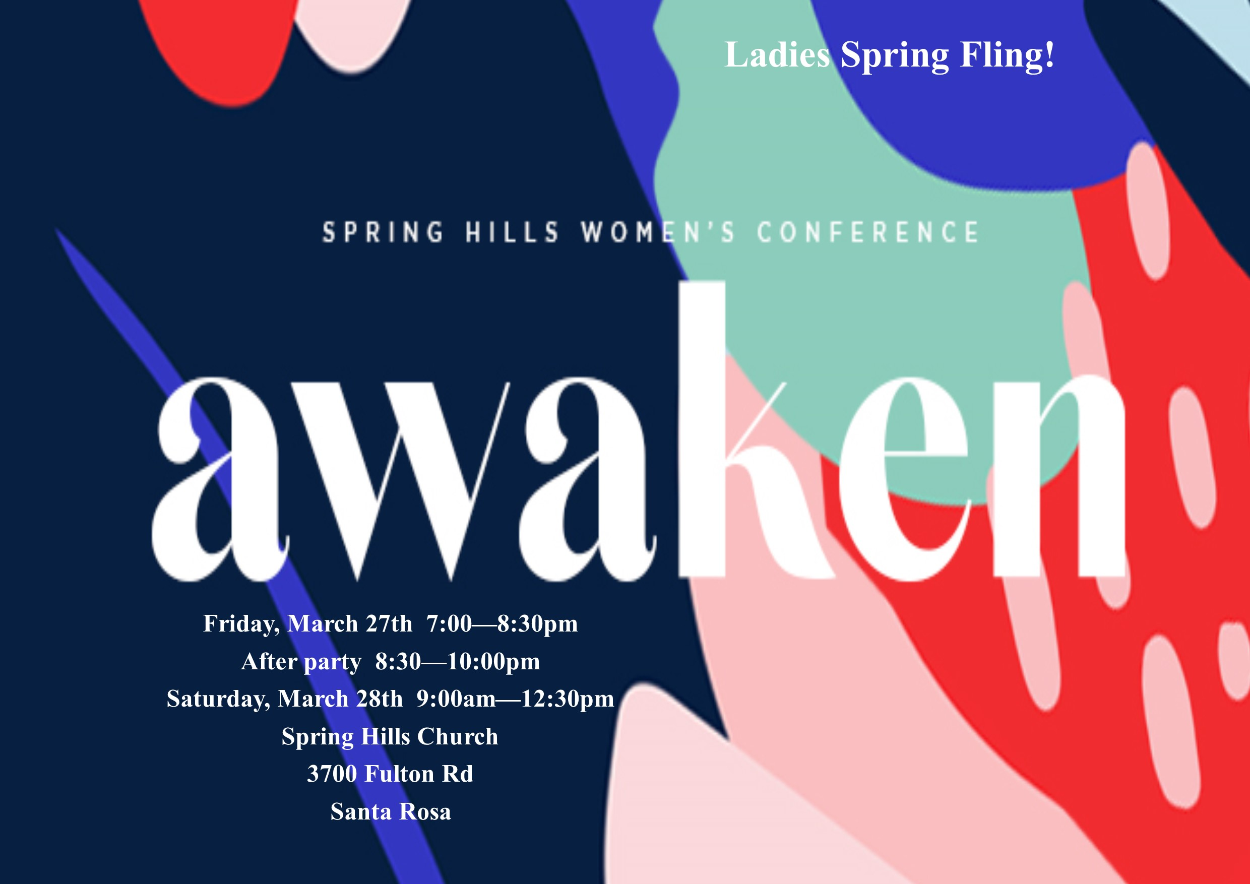 SPRING FLING. AWAKEN.  MARCH 2020  LRG POSTER