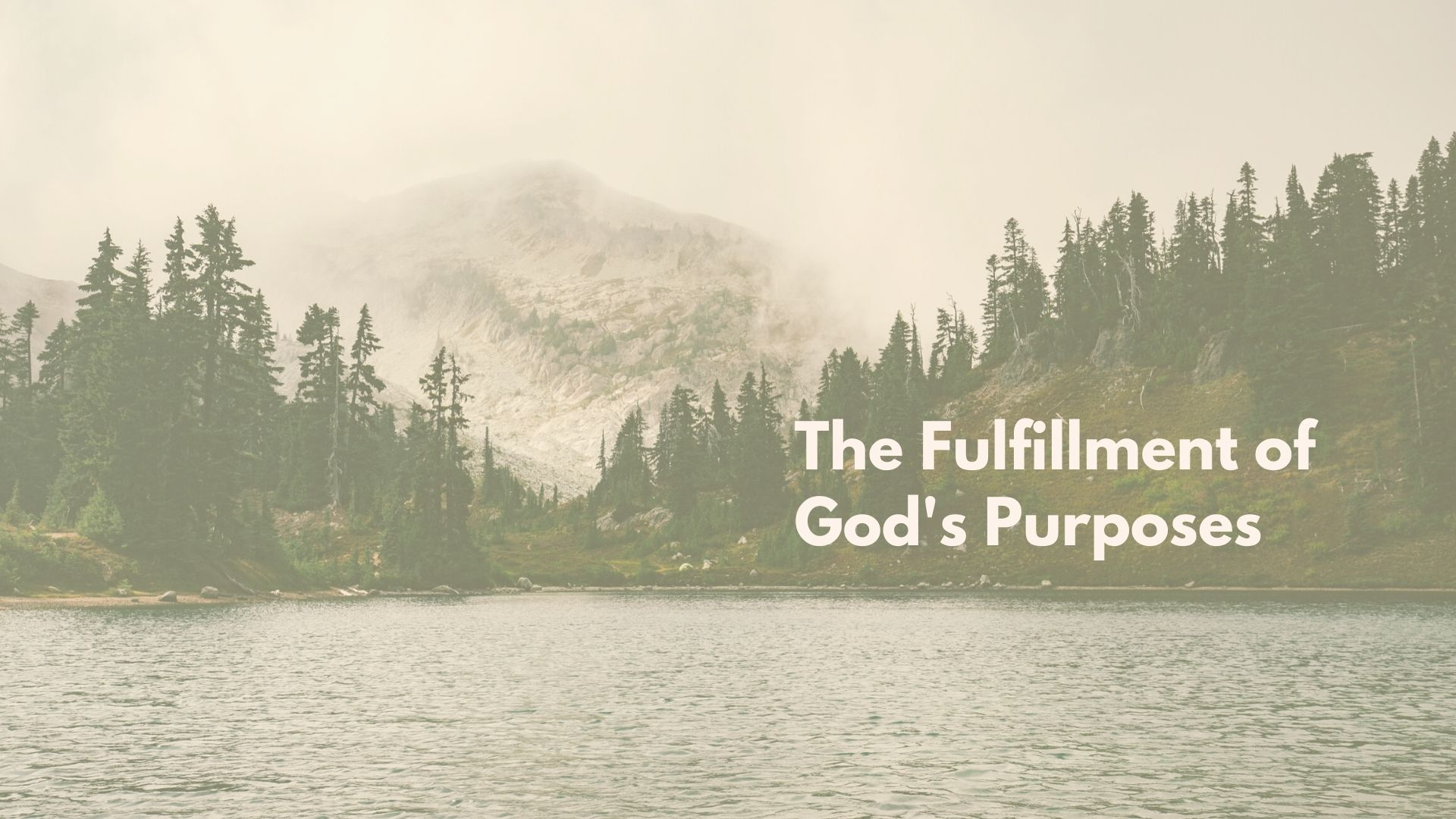 The Fulfillment of God's Purposes  (3) image