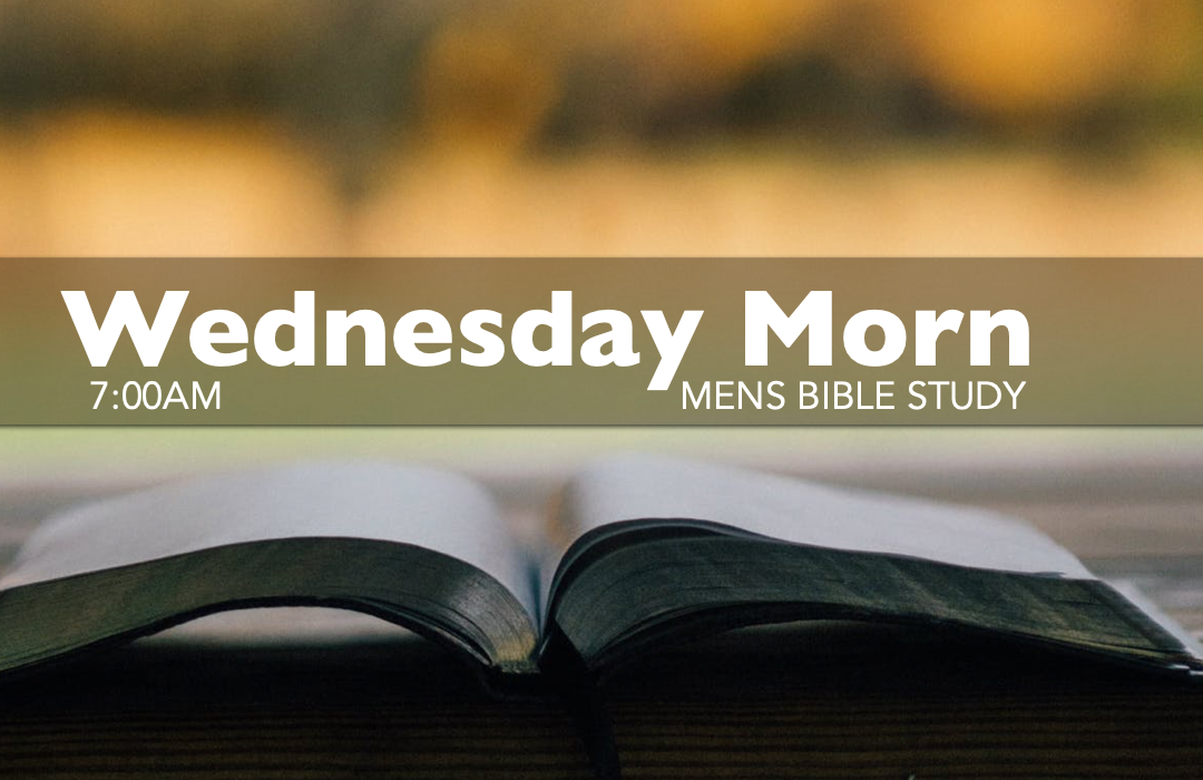 Men's Bible Study - Wednesday image