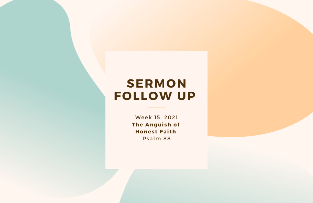 Sermon Follow Up Week 15