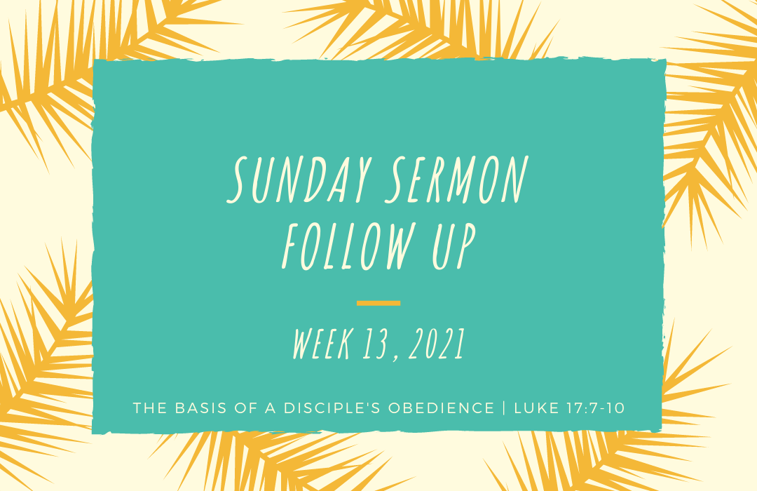 Sermon Follow Up Weeks