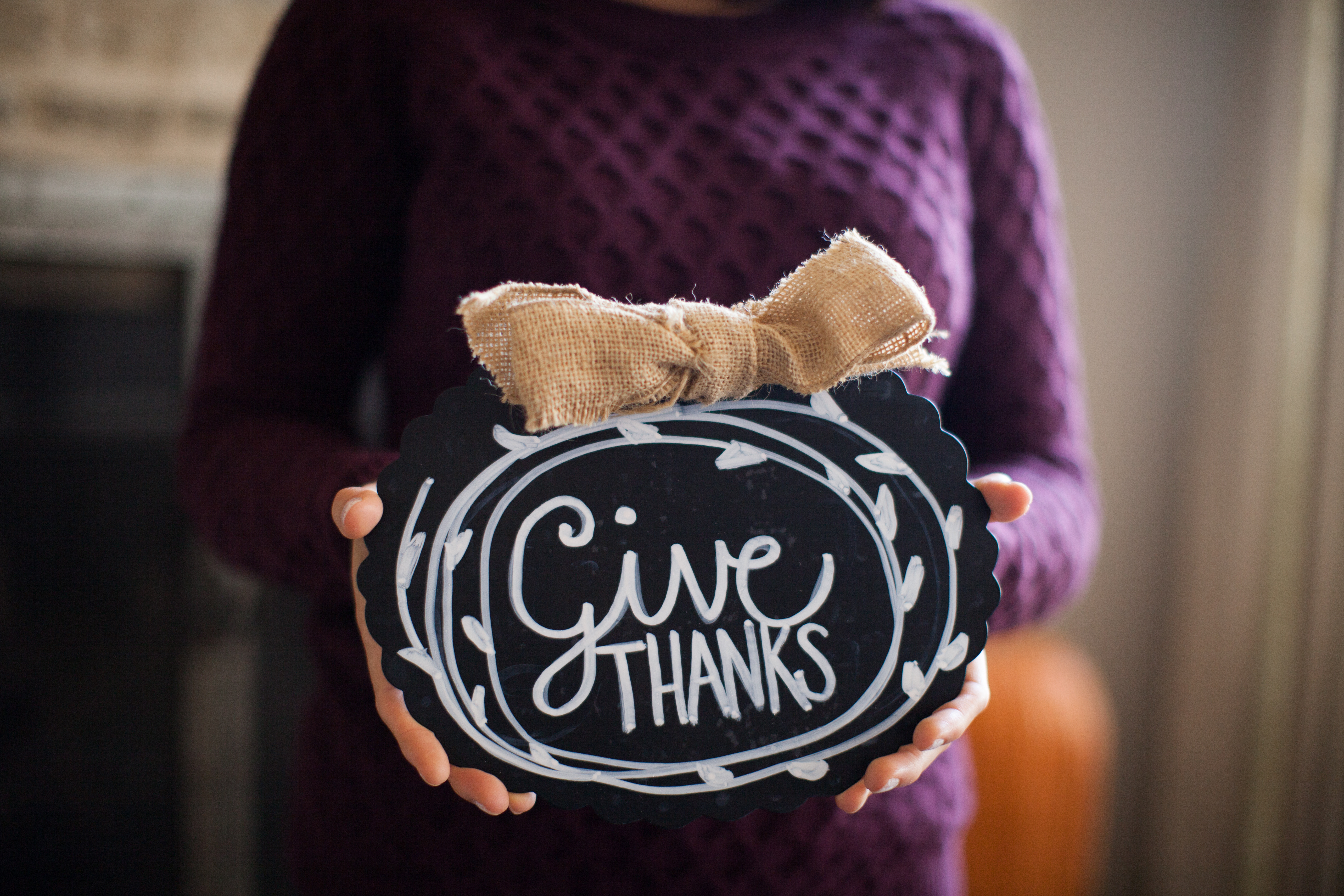 Give thanks sign image