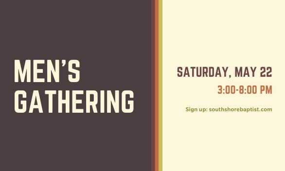 Men's Gathering - sign up by May 16