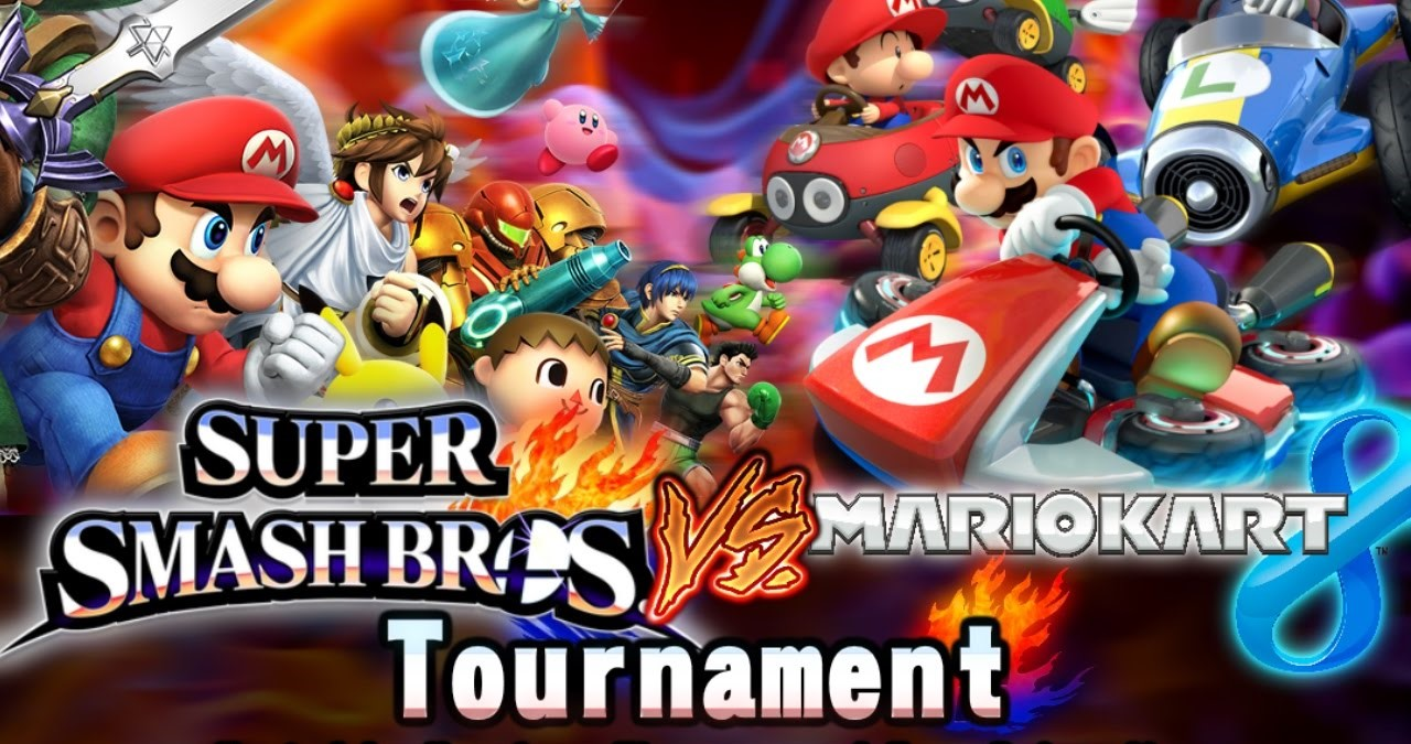 smash brothers mario kart tournament cropped