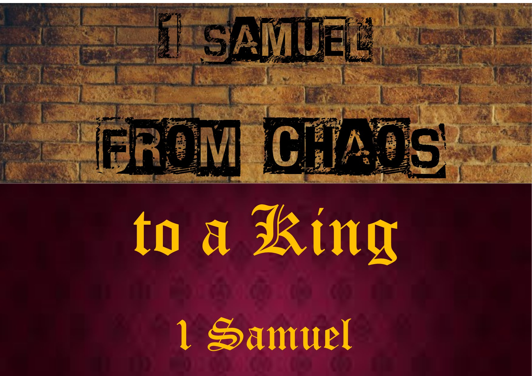 From chaos to a King banner