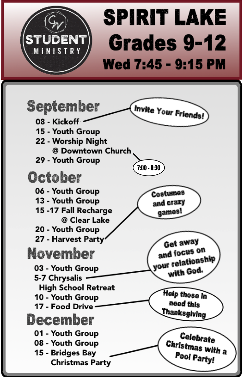 Fall 2021 Student Ministry Flyer - High School