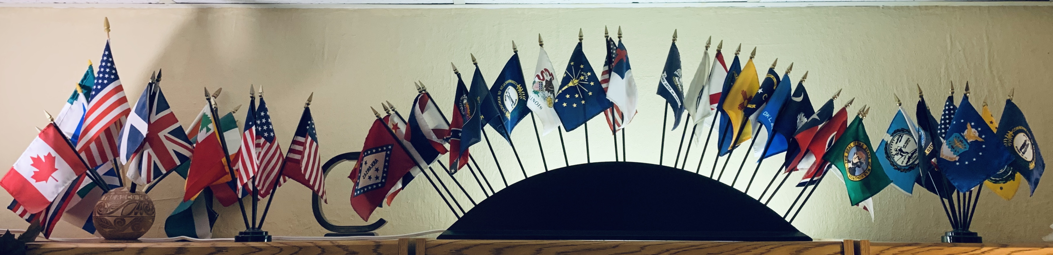 PP - 2nd PIC - Vexillology -- Flags in Stephen's office