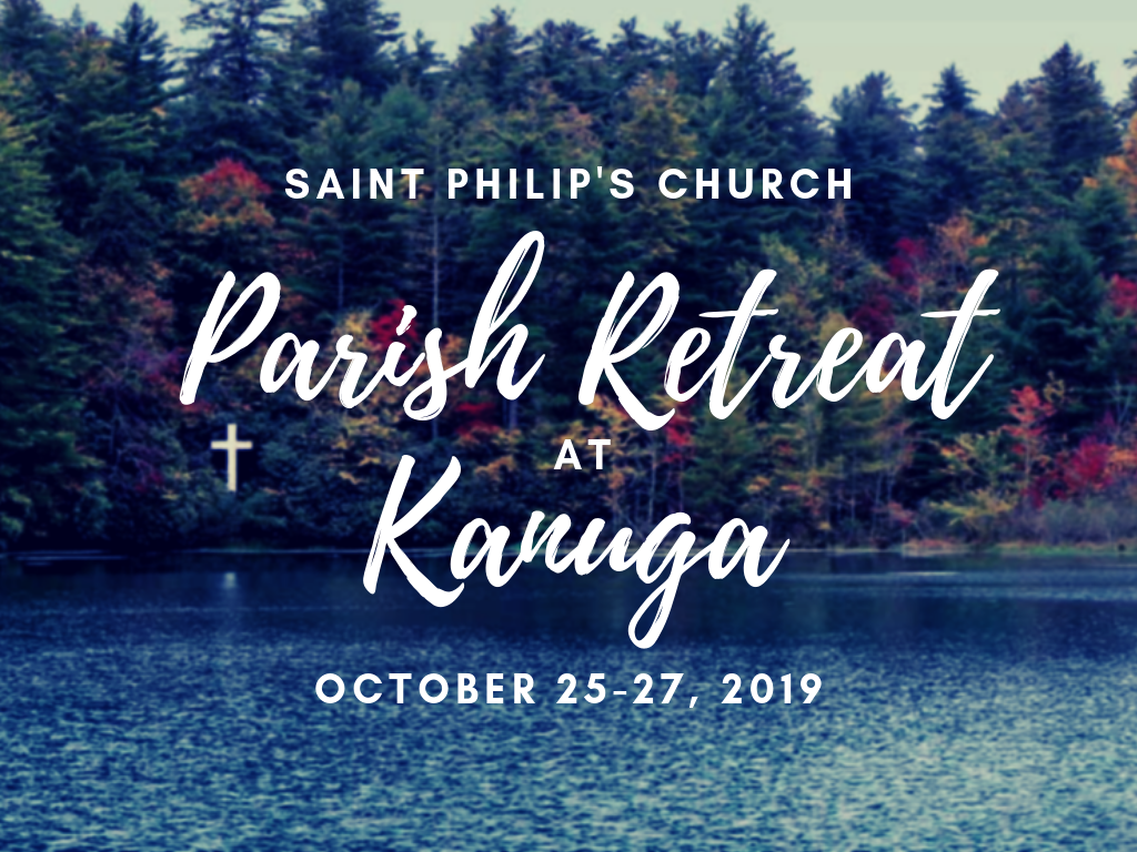 2019 Parish Retreat at Kanuga PCO registration graphic