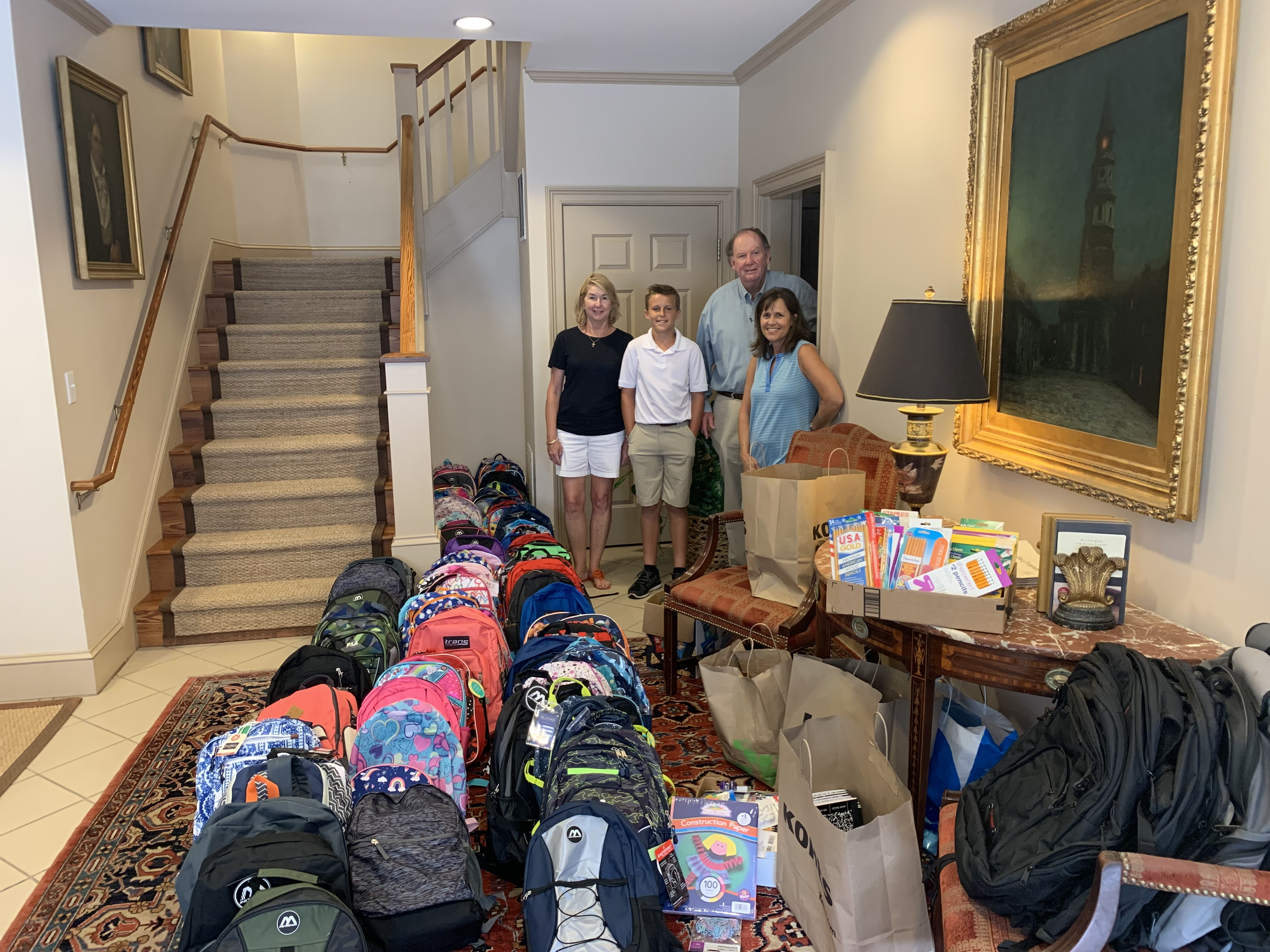 Backpack Drive Volunteers Parlor 2019