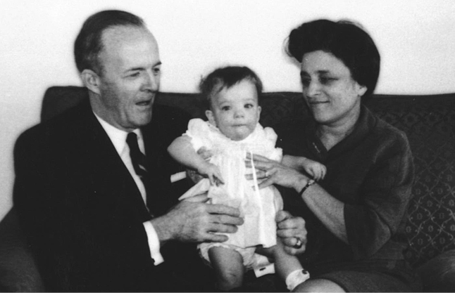 News--Ann H. Harrington with Grandparents