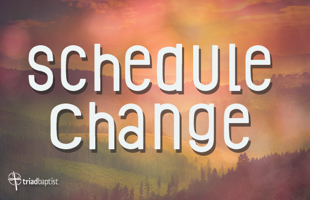 TBC Featured Blog Schedule Change