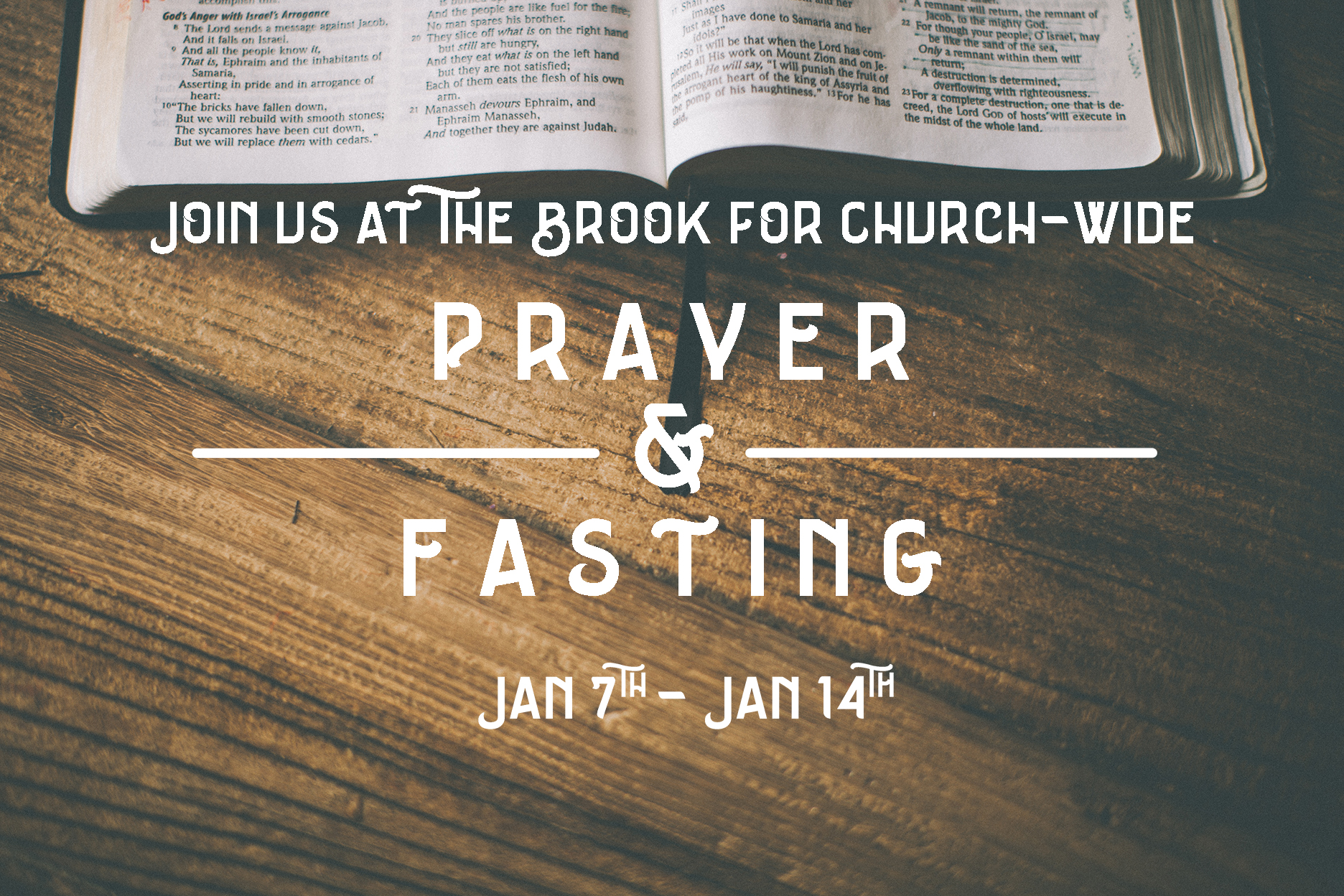 Prayer & Fasting at the Brook