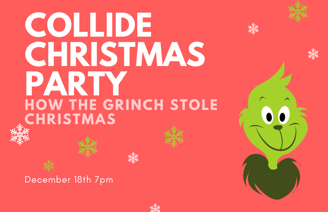 Collide Christmas Party Website Graphic