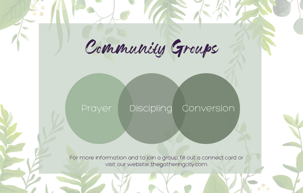 Community Group Slide