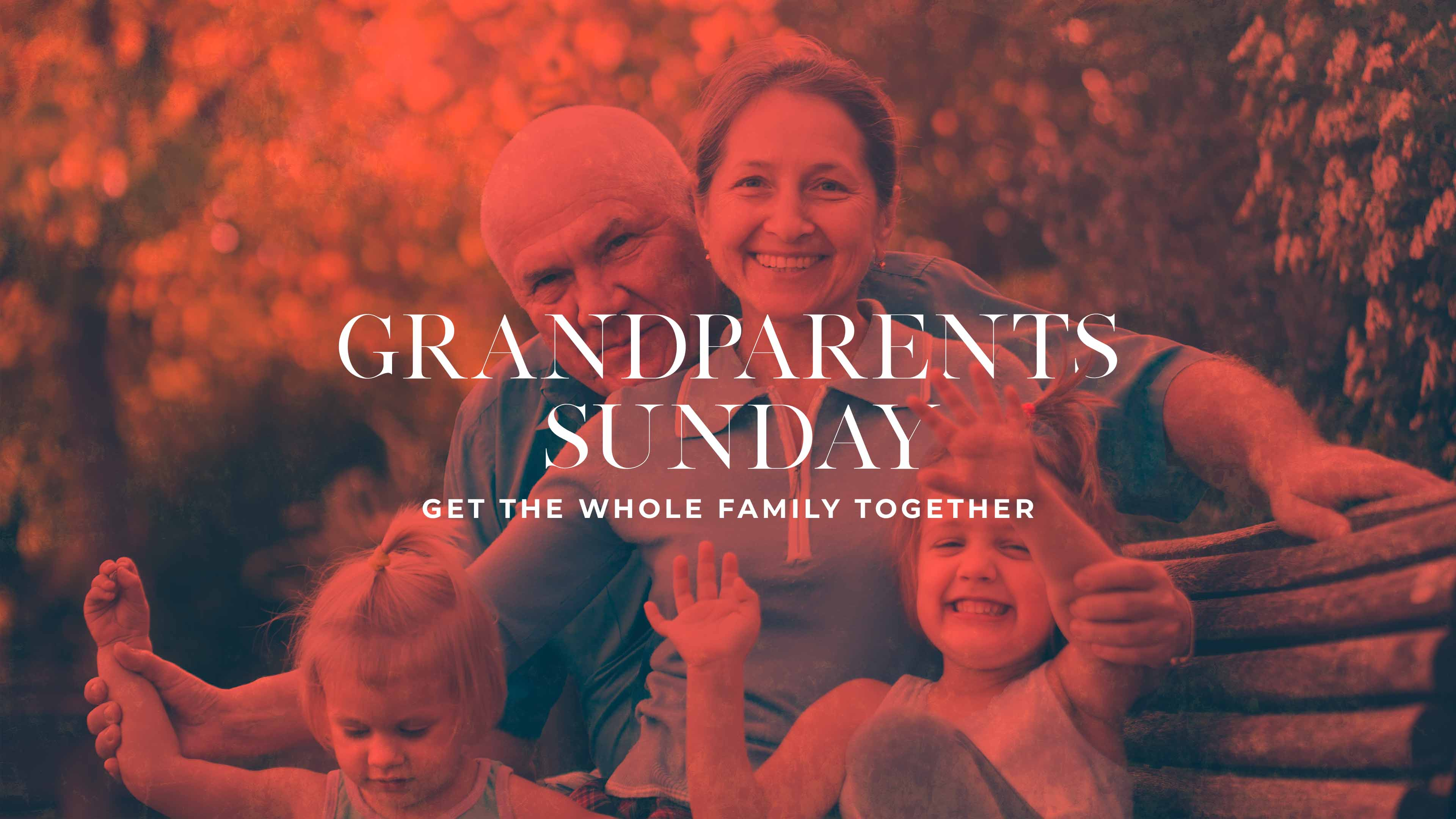 Grandparents Sunday Get The Whole Family Together Red Gradient image
