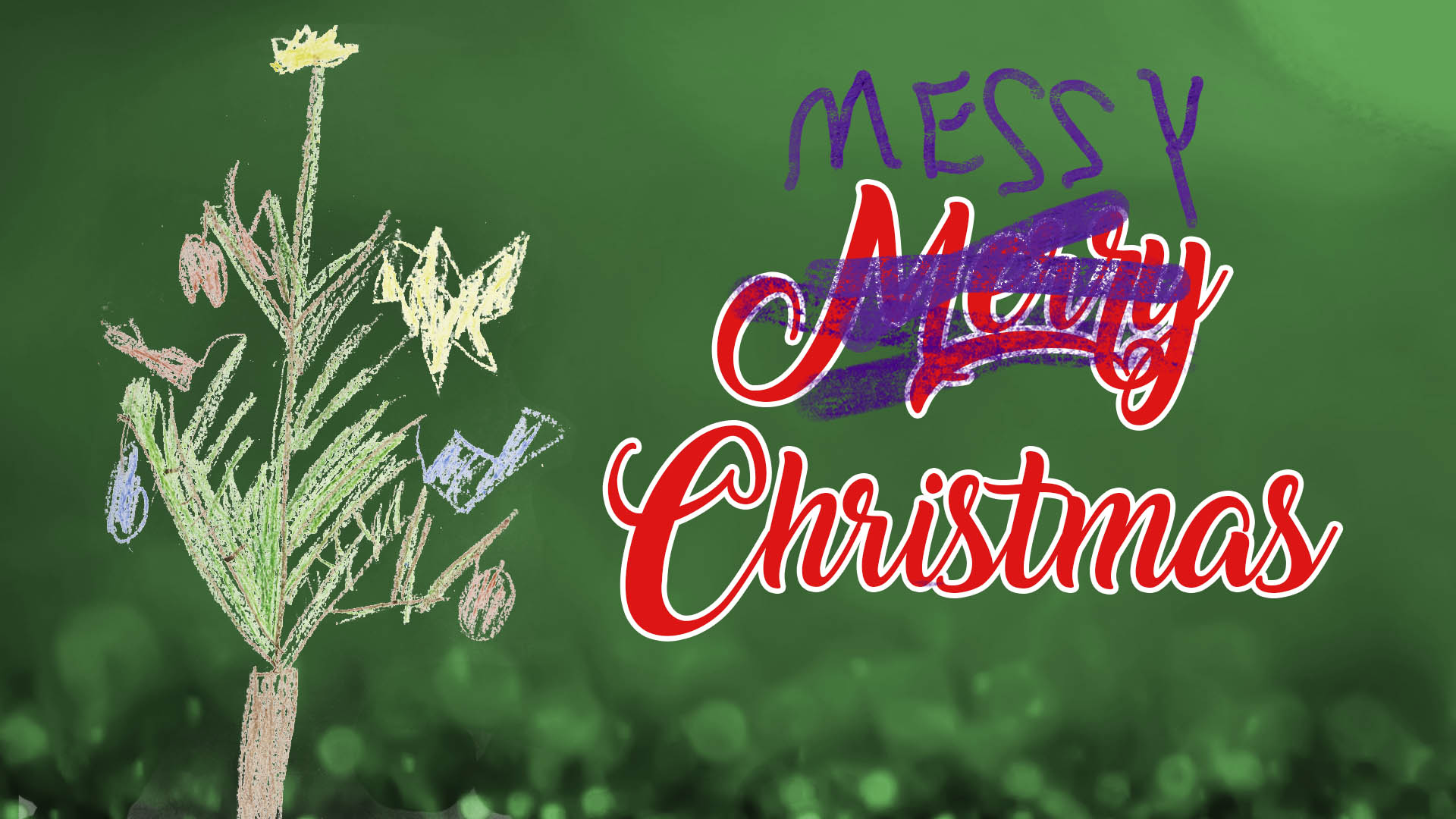 Messy Christmas banner
